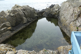 The bathing hut pool, Port Logan