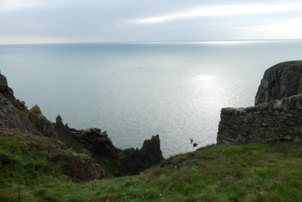 Gallie Craig, Mull of Galloway, the most southern point of Scotland