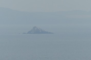 The Scaur Rocks, home to 2,500 pairs of gannets every summer